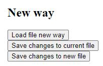 File System Access API - rezultat